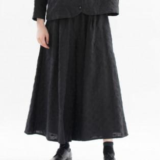 【SALE】Cornet リネンPolka刺繍フレアーパンツ