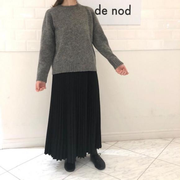 【本館2階 nop de nod】シェットランドクルーネックセーター【SALE】
