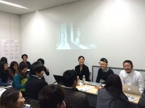 写真右)ANREALAGEデザイナー森永邦彦さん 中央)ミキリハッシン山口壮大さん
