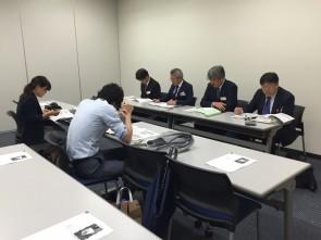 東京証券取引所兜倶楽部での決算発表会見
