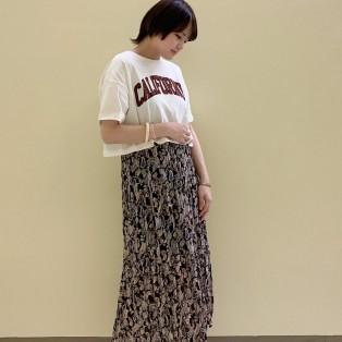 ♡Tシャツ×ペイズリースカート♡