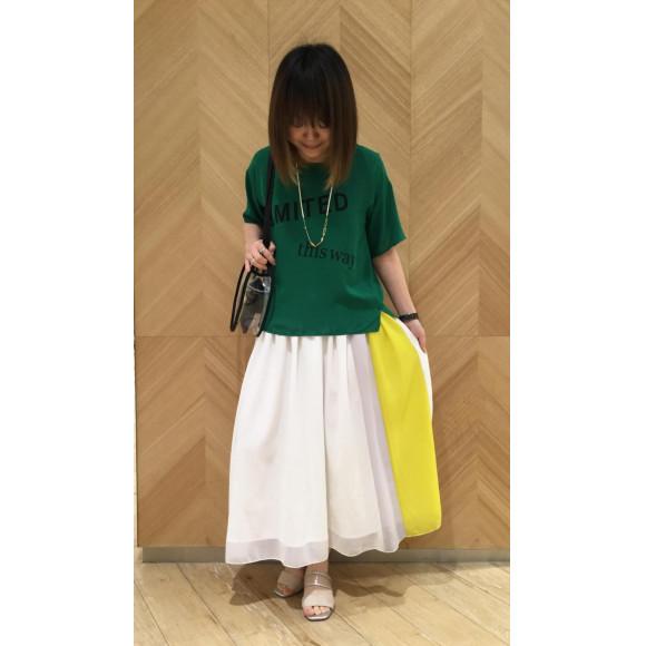 !!!オリジナル!!!ロゴブラウス☆配色スカート