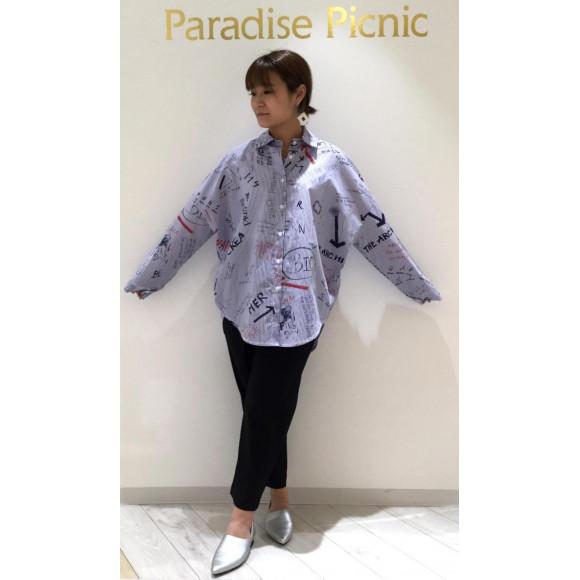 ☆らくがきプリントBIGシャツ&ベルト付きポッケパンツ☆