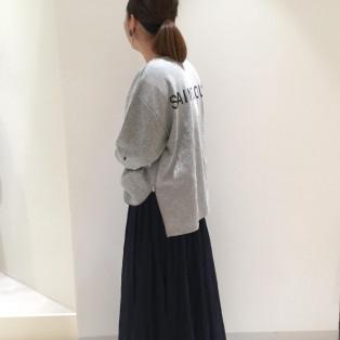 バックプリントtop☆ロングスカート