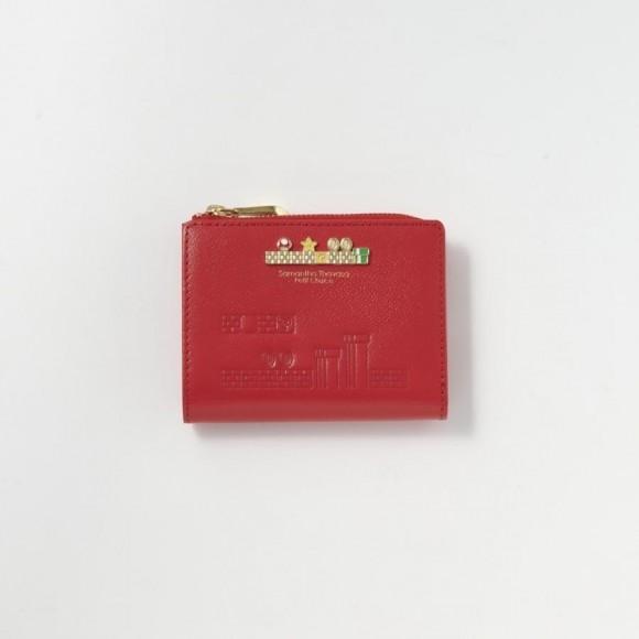 【パルコ×スーパーマリオ コラボアイテム】 Lジップ折財布 マリオ