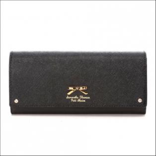 シンプルリボンプレートかぶせ長財布