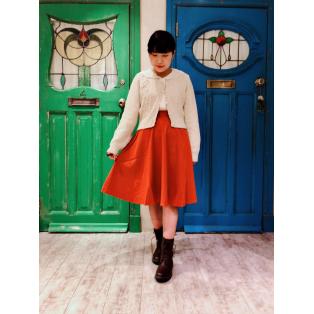 あったか可愛い♡モールヤーンカーディガン着てみました(^o^)/