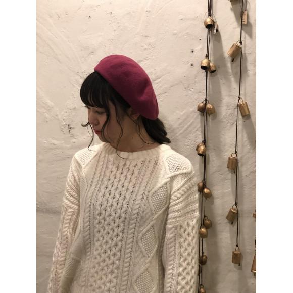 ▽定番人気のベレー帽▽