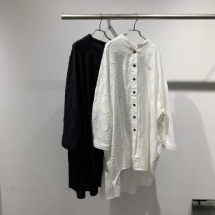 大小ドット織ビッグシャツ
