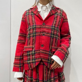 【ICHI Antiquites】タータンチェックジャケット
