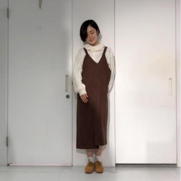 混色キャミソールジャンパースカート