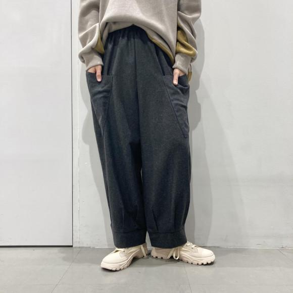 【SALE】バイカラービッグポケットパンツ