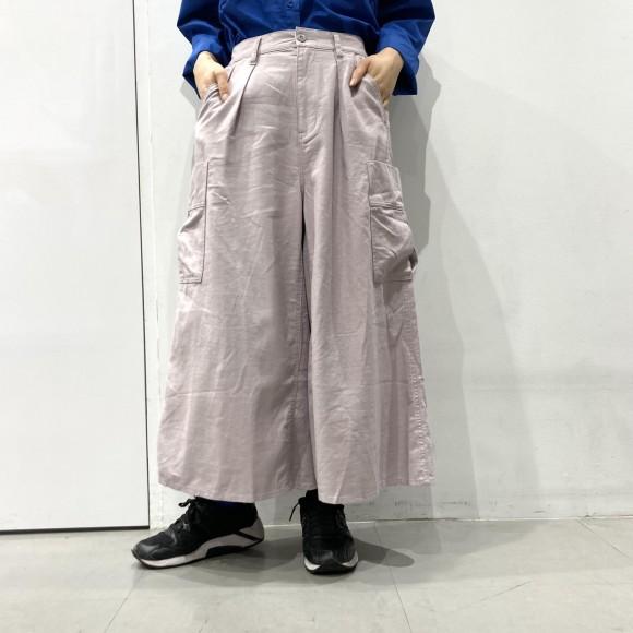 リネンコットンスカート風パンツ【10%off対象】