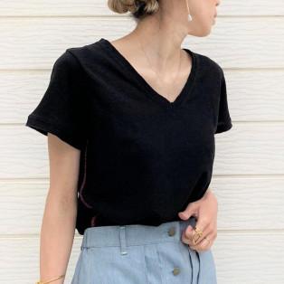 綿麻ディリー半袖Tシャツ