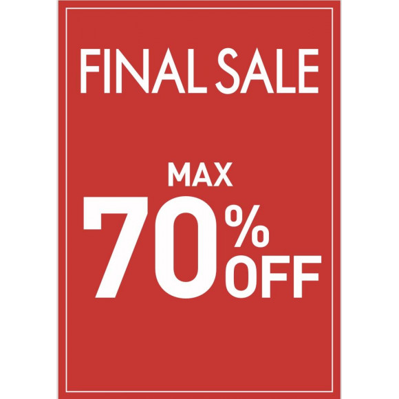 FINAL SALE MAX 70%OFF!!