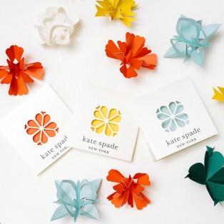 "kate spade new york 2021 summer ""paper flower"""