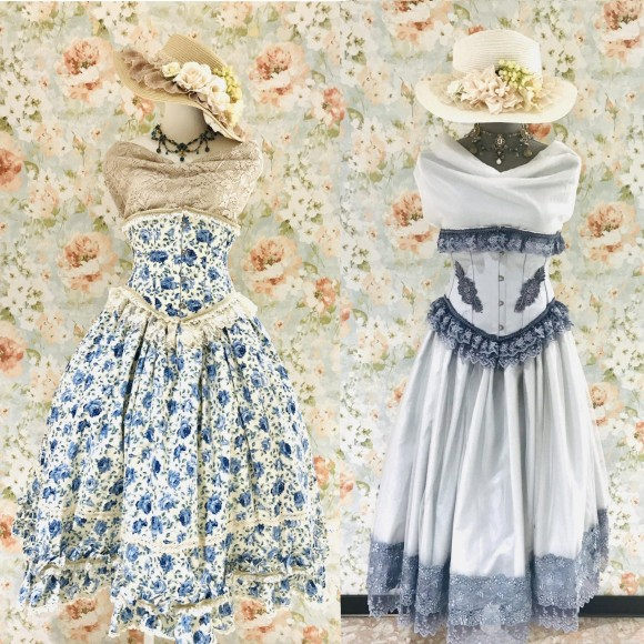夏に可愛くキメる!ロリィタさん必見のコルセット&スカート&カンカン帽です。