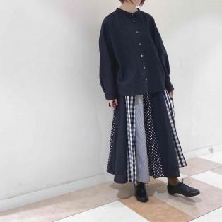 【2階 nop de nod】パッチワーク好きの方、必見のスカートです◎