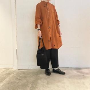 ポルカ変形ボリューム袖チュニックシャツ