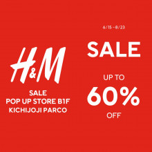 【期限限定SHOP】H&M SALE POP UP STORE