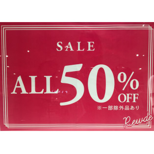 ALL50%OFF!!!