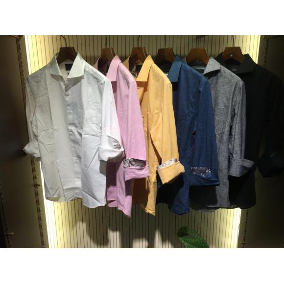 綿麻ストレッチシャツ
