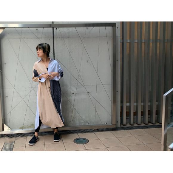 MIX切替シャツワンピース!