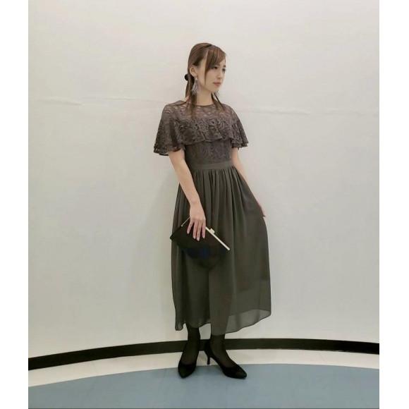 ☆ヨーク切替 フリルレースドレス☆