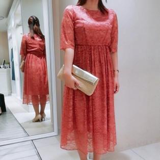 ☆別注カラー袖付き総レースドレス☆
