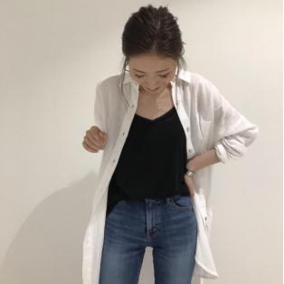コットンルーズシャツ★