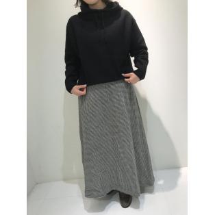 ウールリネン千鳥スカート、パンツ