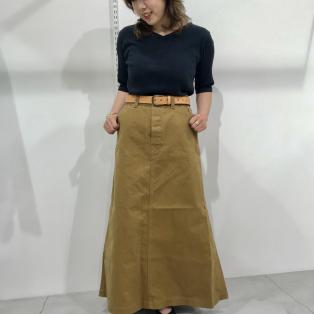 ▷カラー・Nデニムペインターロングスカート