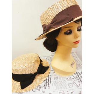 夏におすすめ♪リボンカンカン帽