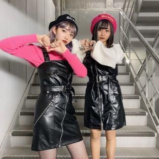 新春韓国ファッションはBLACK×PINKが最強✨