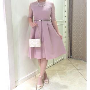 春カラー☆お袖付ドレス