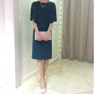 50%off☆袖つきタイトドレス
