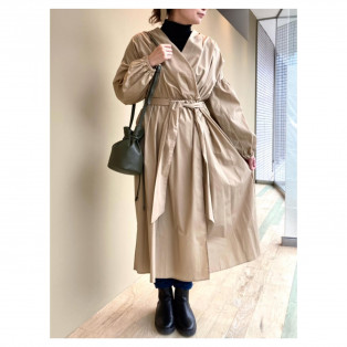 ☆daily coordinate☆ カシュクールギャザーワンピース