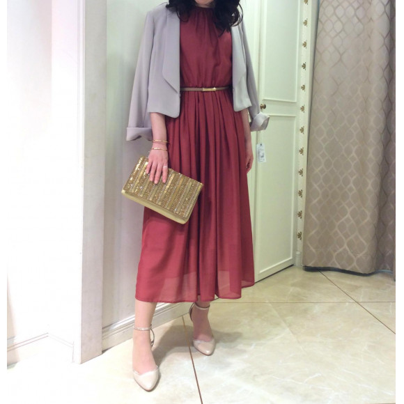 NEW☆ハイネックノースリーブドレス