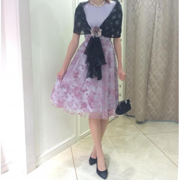 NEW☆フロッキー×薔薇フレアドレス