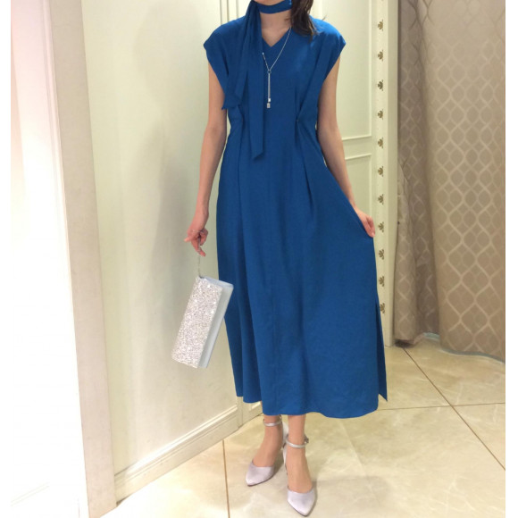 NEW☆スカーフ付☆Yラインドレス
