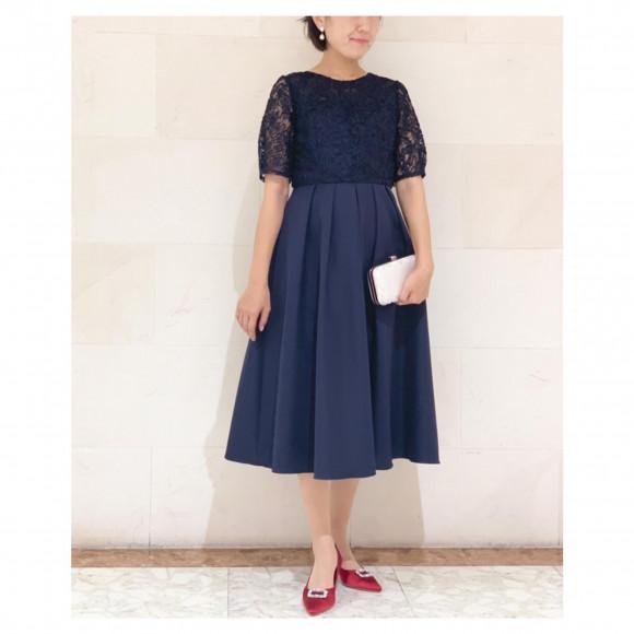 リボン刺繍ドレス♡50%OFF ♡