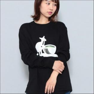 KANGOL別注 'green tea' T シャツ ブラック