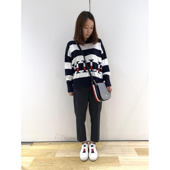 【WOMENS】グラフィックセーター