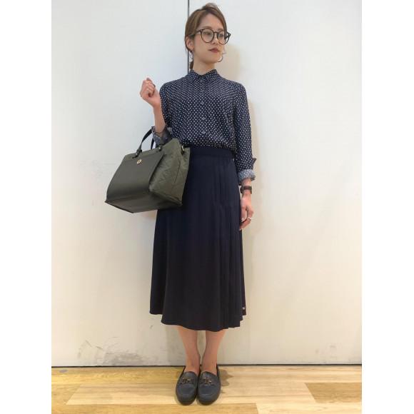 【WOMENS】ポプリンシャツ