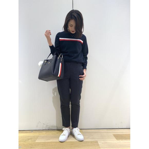 【WOMENS】10%OFF フラッグラインセーター