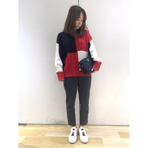 【WOWENS】カラーブロックセーター