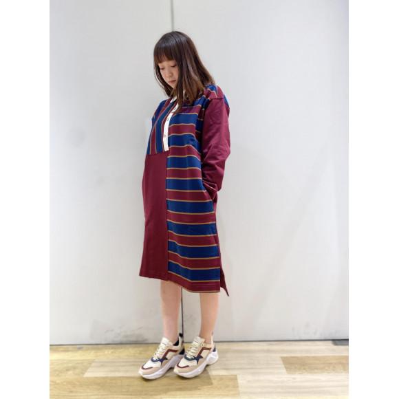 【WOMENS】ICON ラグビーシャツワンピース