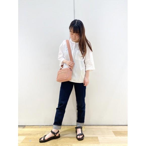【WOMENS】リラックスフィットポケットシャツ