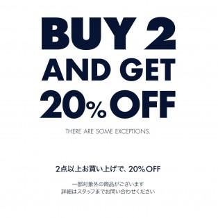 【2BUY20%OFF】