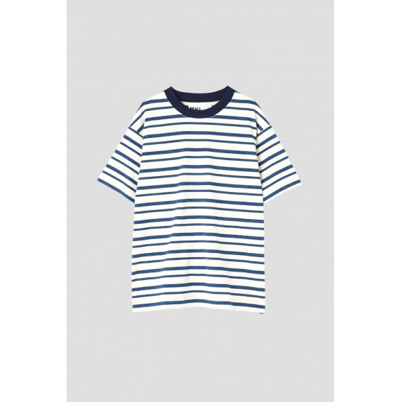 MHL  MELANGE STRIPE COTTON JERSEY
